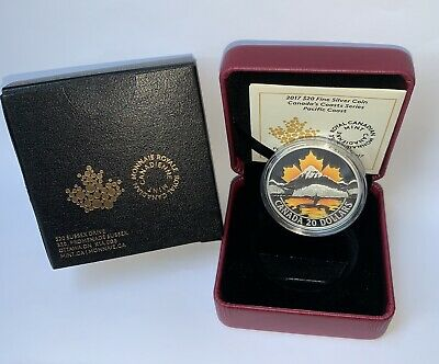 Royal Canadian Mint 2017 $20  Silver Coin- Canada's Coast Series -Pacific OBO