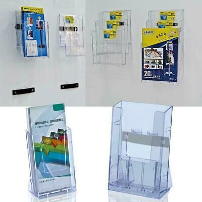 Clear Acrylic Business Card Holder Brochure Desk Stand Pamphlet Display Useful F