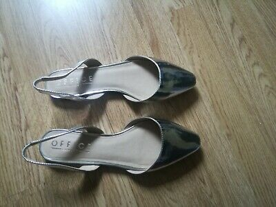 Ladies Office Silver Flats Size 7