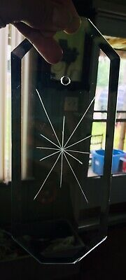 Octagon Beveled Glass Panel Bowed 12Pt Star Chandelier Repair Part Clear