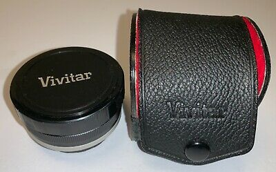 Vivitar Automatic Tele-Converter 2X-21 Lens, caps, case Made in Japan - used
