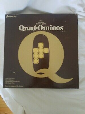 QUAD-OMINOS Game Four number tile match by Pressman Toy Corp Full set 1978 4422
