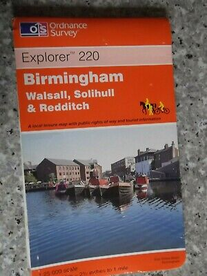 Ordnance Survey Explorer Map Birmingham(Walsall,Solihull & Redditch)