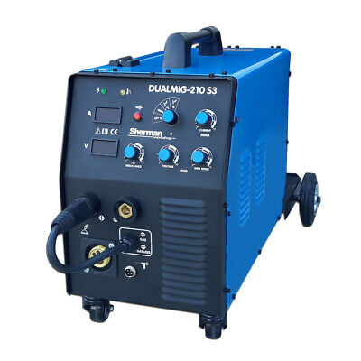 Sherman DUALMIG Inverter welder 210 S3 MIG / MAG,  Stick and TIG Lift IGBT