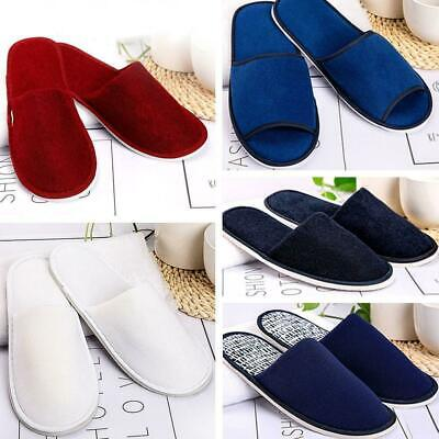 New Towelling Hotel Disposable OPEN TOE Slippers Terry Spa Guest Shoes WHOL N3D0