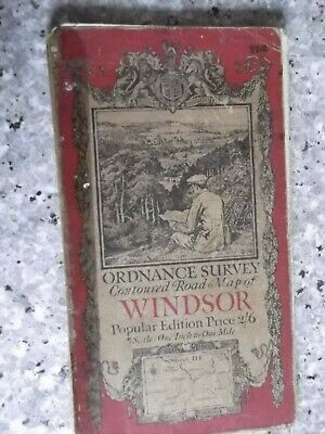 Ordnance Survey Contoured Road Map Windsor.