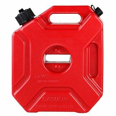 Red 5L Jerry Can Gas Diesel Petrol Fuel Tank Oil Container Fuel-jugs Car Moto