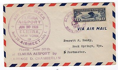 CLARENCE CHAMBERLIN 1893-1976 American pioneer aviator. Nice signed cover
