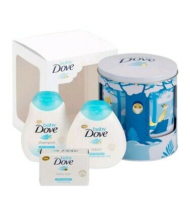 Dove Lullaby Musical Tin With Shampoo Lotion And Baby Bar Brand New