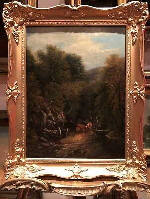 FINE JOSEPH MELLOR (1827 - 1888) OLD MASTER FAMILY OIL PAINTING British School