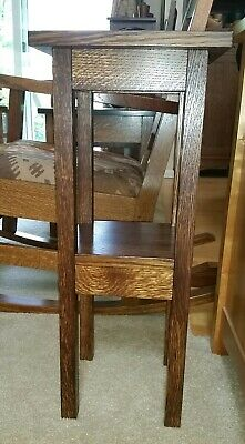 Dovecote Woodworking Quartersawn Oak Plant Stand Table Mortise Tenon craftsman