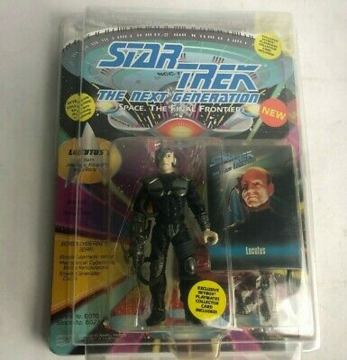 Locutus Star Trek The Next Generation Action Figure  Playmates W/ COLLECTOR CARD