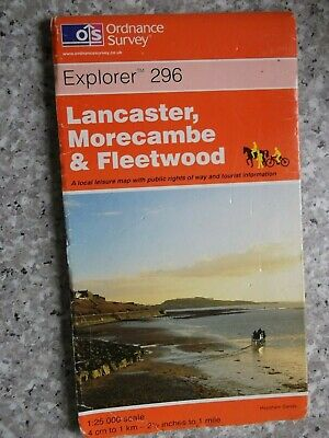 Ordnance Survey Explorer Map Lancaster, Morecambe & Fleetwood.