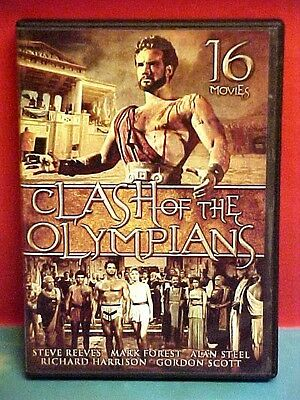 CLASH OF THE OLYMPIANS DVD SET 1960s Reeves Forest Steel Harrison Scott