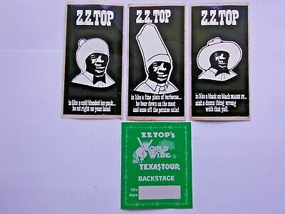 """Rare Early 70s """"ZZ TOP"""" / Glyphs / Cryptic Messages / Enigmatic Vinyl Stickers +"""