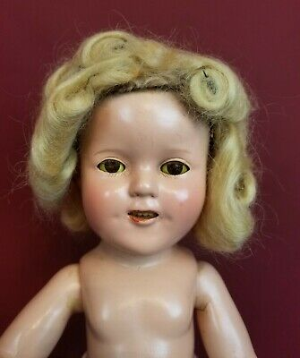 Vintage Ideal 1930's  Shirley Temple Composition Doll Marked 15 inches DIMPLES!