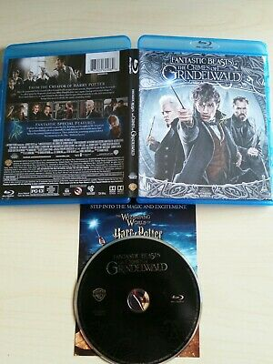 Fantastic Beasts The Crimes of Grindelwald Blu-ray Disc, case/art, & insert