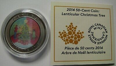 2014 SP Lenticular 50 cents Holiday #8-Christmas Tree Xmas Canada fifty half dol