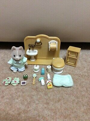 Sylvanian Families Toilet Set For Bathroom Good Used Condition