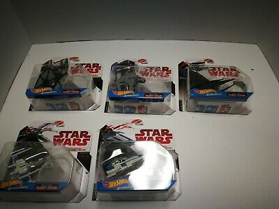 Hot Wheels Starships Lot of 5  X-wing, A-wing, Tie, Walker, Silencer, Star Wars