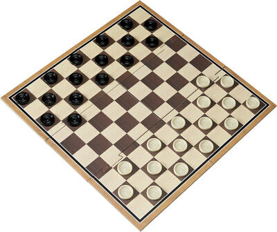 Traditional Cardboard Checkers Board Game - Brand New