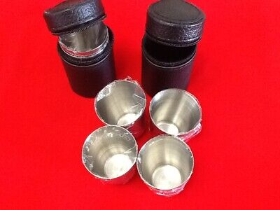 8 Stainless Steel Shot Glass 1oz w/ 2 Case Travel Glasses Cases Portable Shots