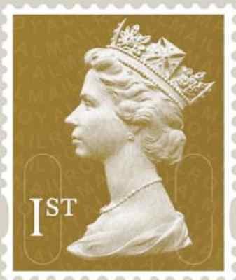 100 Off Paper, Unfranked First 1st Class Gold Stamps