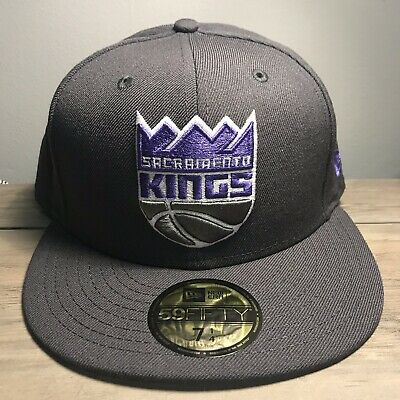 best sneakers 43d2e 92dfa Sacramento Kings New Era Official Team Color 59FIFTY 5950 Fitted Hat Gray 7  1 4