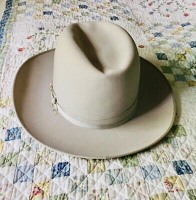 3777586d1 VINTAGE USED STETSON OPEN ROAD SHANTUNG STRAW WESTERN classic cowboy ...