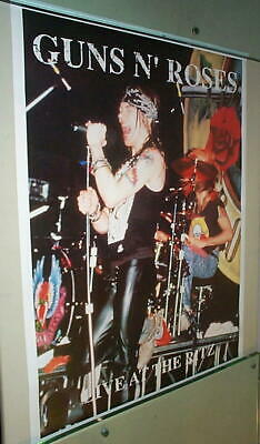 GUNS & ROSES Rare Vintage LIVE AT THE RITZ Poster