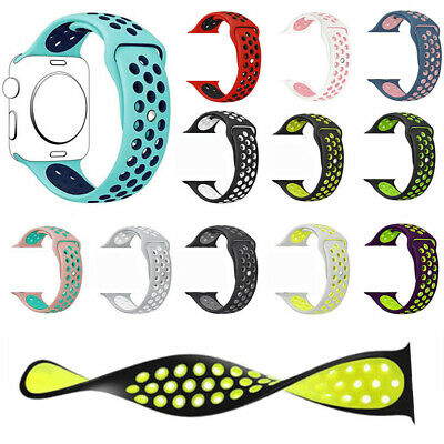 Sport Watch Band Silicone Bracelet For iWatch Apple Series 4 3 2 1 38 40 42 44mm