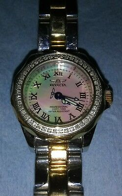 Ladies Invicta Watch Model 3835 Genuine Diamond Bezel With Pink Topaz Dial Clients First Jewelry & Watches