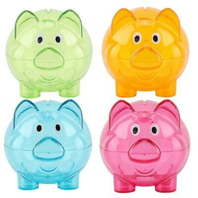 NEW Piggy Bank Money Pig Saving Coin Plastic Savings Box Birthday Gift Decor