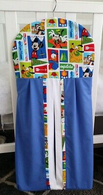 """Mickey Mouse & Friends"" Nappy stacker in blue and white trim"
