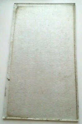 Frosted Clear Glass Panel From An Edwardian Leaded Window  9 1/2 X 5 1/2 Inches
