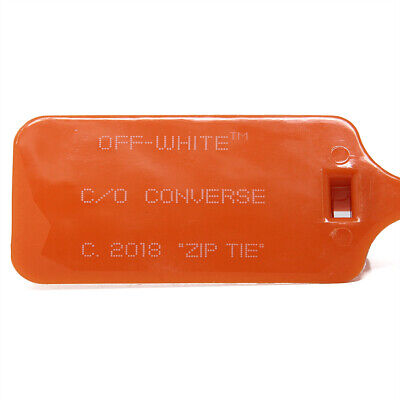 New Off White X Converse 2018 Zip Tie / Tag Orange