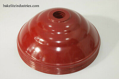 5 Bakelite / Plastic Light Shades Red