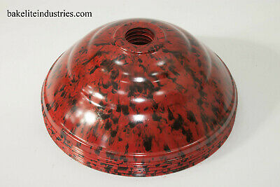 5 Bakelite / Plastic Light Shades Red & Black