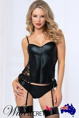 NEW Seven Til Midnight Bold Lustre Wet-Look Bustier with Cheeky Panty
