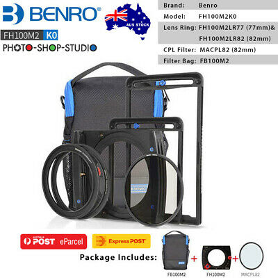 AU STOCK*Benro MarkII Square Filter Kit with 82mm CPL Filter & FB100M2 Filter Ba