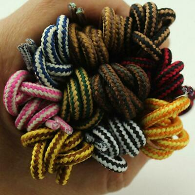 Striped Two-tone Round Shoelace Trainer Skate Snow Boarding Boot Laces Best S5Q7