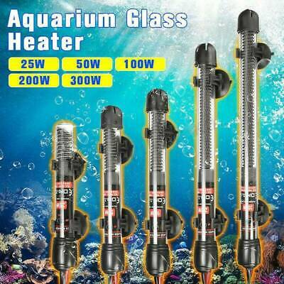 Aquarium Water Heater 25-300W Submersible Fish Tank Thermostat Heating AU Stock
