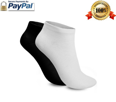Ankle Socks 1-24 Pairs Mens Womens Trainer Liner Cotton Sports  7-9 & 9-12 Lot