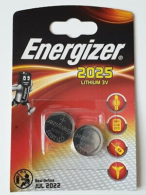 Genuine Energizer 2X Cr2025 3V Lithium Coin Cell Battery