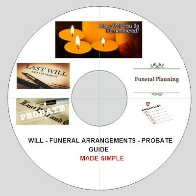 Will Making Form Made Easy - Funeral Arrangements and Probate Guide - Disc