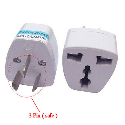 3 pin AC Power Plug Adapter Travel Converter 10A Universal to AU/Australia 1pc