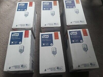 x6 Tork Liquid Soap Dispenser (Part No. 561000) boxed c/w fixings and manual