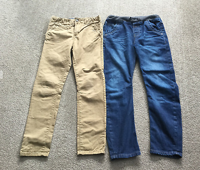 M&S Jeans and TU Beige Trousers Boys 10-11 Years