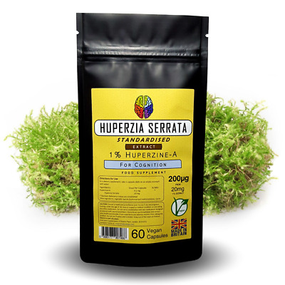 Huperzine A 200mcg Capsules - Memory Supplement - Huperzia Extract + FREE GIFT