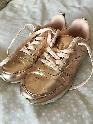 Girls - Rose Gold Trainers - Young Dimensions - Size 4
